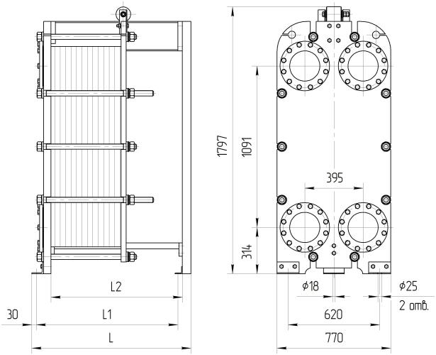 Ридан теплообменники нн 65 цена Пластинчатый теплообменник Машимпэкс (GEA) NT 350L Невинномысск