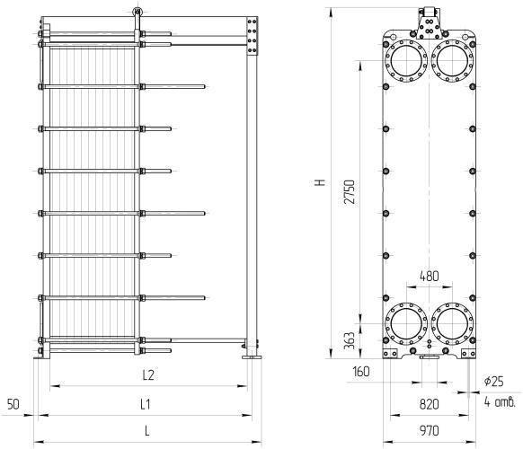 Полусварной пластинчатый теплообменник Sondex SW122 Саранск