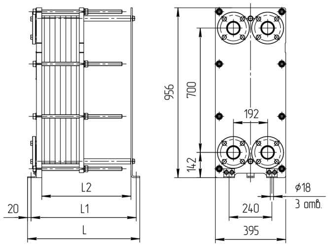 Пластинчатый теплообменник Sondex S220 Самара