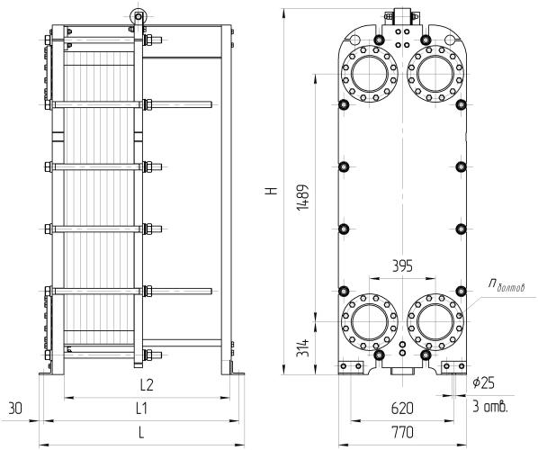 Кожухотрубный теплообменник Alfa Laval ViscoLine VLO 102/154-6 Волгодонск