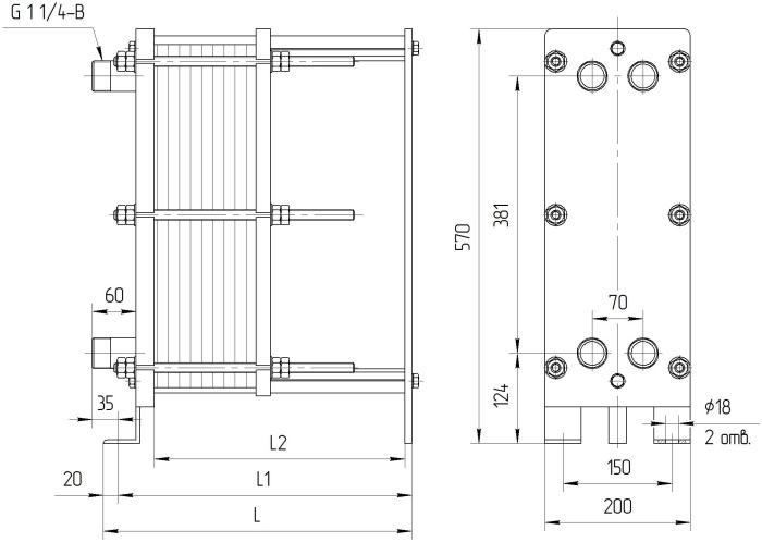 Опросные листы для подбора теплообменников ридан Пластинчатый теплообменник ONDA GT022 Нижний Тагил